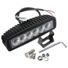 "6"" 18W Single Row LED Light Bar"